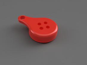 Tile sticker keychain adapter (threaded)