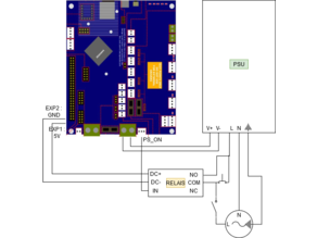3D Printer auto off using Duet Wifi and relay - no additional power supply required