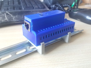 DIN mountable case for Arduino NANO with Ethernet shield and terminal adapter IO shield.
