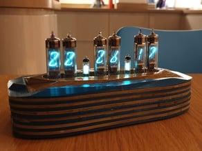 Clock case for small tube vfd or nixie clocks