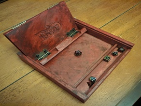 D&D Dice Tray box with tablet stand