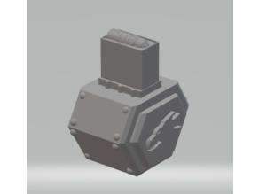 FHW: Salamander Drum magazine with Bolter shell