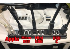 USB Connector Holder Block