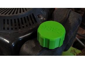 Lawn mower gas tank cap
