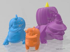 Halloween Bulbasaur, Ivysaur, and Venusaur