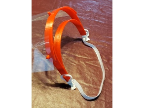 adjustable clip to connect elastic to Prusa Face Shield - US Version