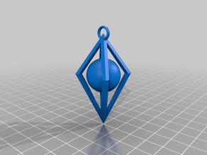 Diamond Pendant (with ball inside)