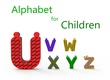alt Alphabet for children. U V W X Y Z