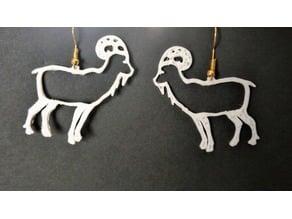 Goat outline earring