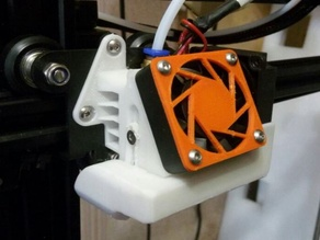 Carriage cooling mod like Hero Me for Anet E16 with 4010 OEM hotend cooling