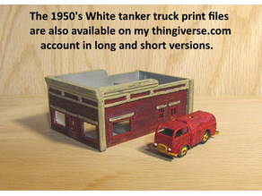 N-Scale 3 Foot Shorter Version of White Fuel Truck