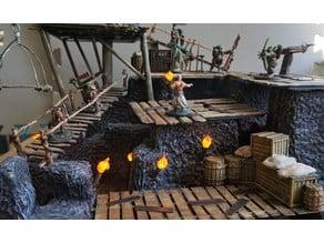 wooden Platform skeleton for tabletop games and dnd (video)