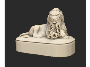 Tentacled Lion Statue Cthulhu