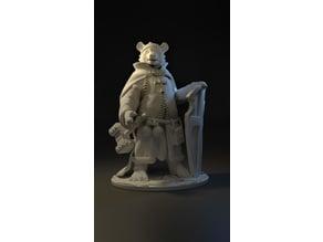 Bear Cleric - Tabletop Miniature