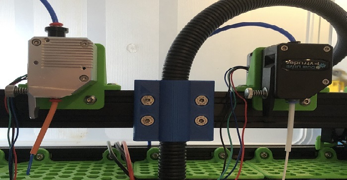 BLV 3D-printer part: 21mm flexible tube clamp
