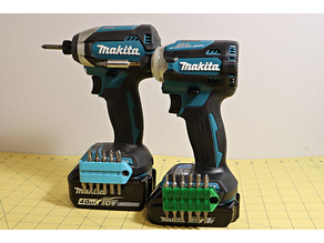 Compact Bits holder for Makita LXT (Magnetic, Customizable)