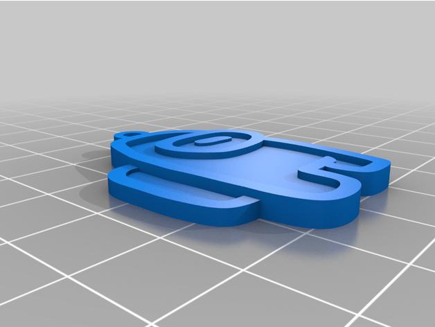 among  us key chain  3d printed