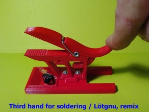 Third hand for soldering / Lötgnu, remix