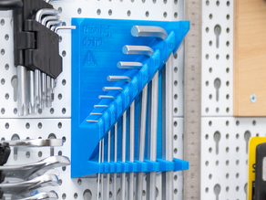 Allen wrench holder for pegboards