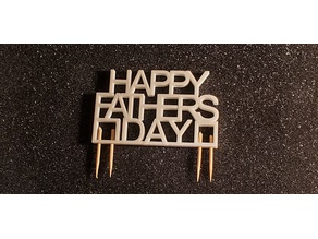 Father's Day Cake Sign
