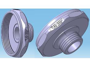 40MM NATO (RD40x1/7) to MEDOP Threaded Filter (EUROPA Comfort Series) Adapter