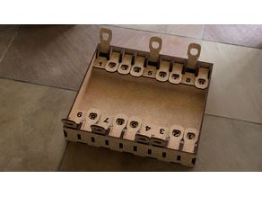 Shut the Box with Double Score Tracks, Laser-Cut