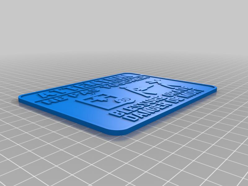 Ne pas toucher imprimante 3D