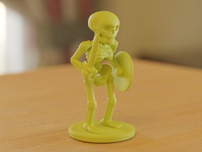 skeleton soldier standing