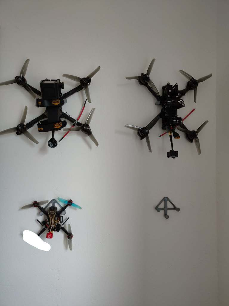 FPV Drone Wall Hanger with spacer