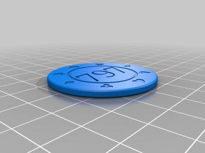 Custom poker chip. link to orginal below