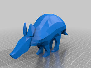 Aardvark low poly