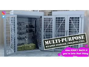 1/12 - 1/10 Scale Multi Purpose Weapon Storage and Holding Cell
