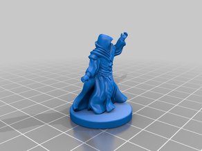 Guild Mage Redux (28mm scale) with Base