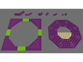 Lego compatible octogonal bricks 18