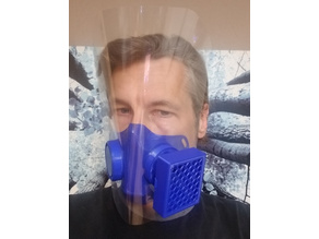 COVID-19 HEPA Face Mask + Optional Shield Personal Protection Project