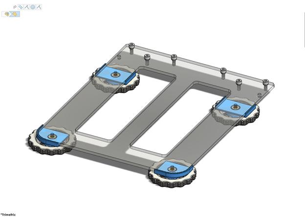 Ender 5 / Ender 5 Pro Bed Leveling locks