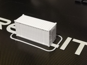 20 Foot ISO Container N Scale