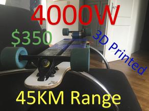 $350 45KM 4000w Electric Longboard