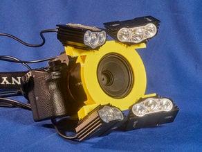 Sony 50 mm macro lens and lighting for macro video