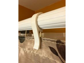Shower curtain holder for double curtain rod