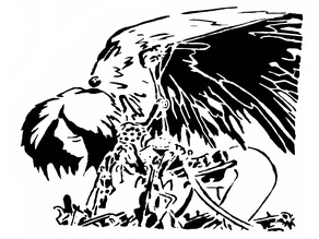 Alita Battle angel stencil