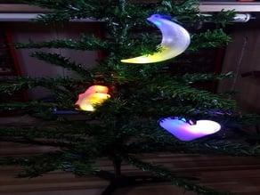 Xmas light tree decoration