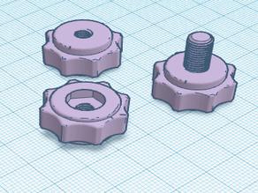 3 Versions of same 8 Grip Knob