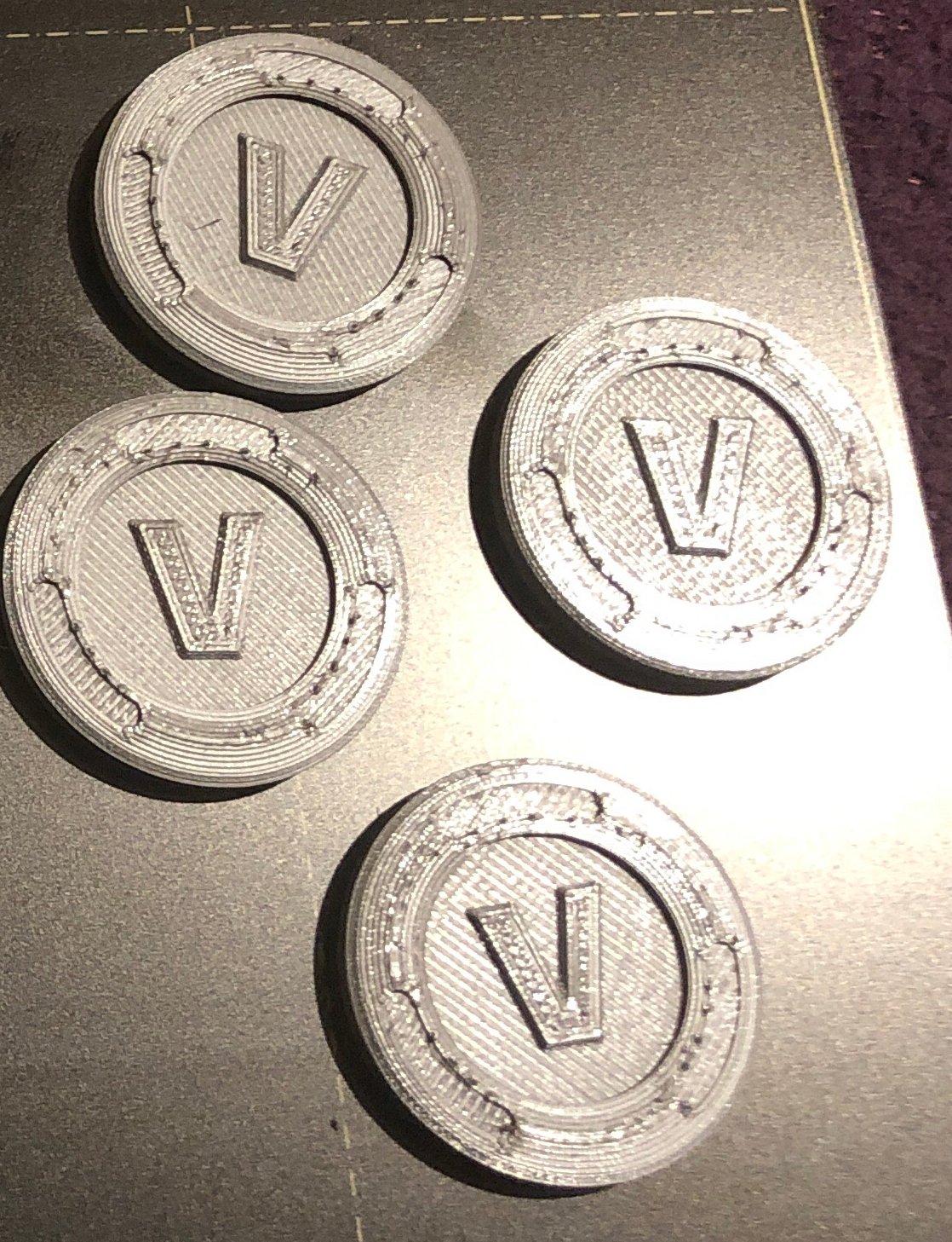 image regarding V Bucks Printable known as 3D printable Fortnite V-Buck via Ruhel