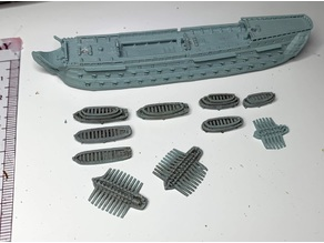 Ships boats for 1:700 scale ships