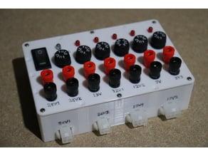 ATX Workbench DC Power Splitter & fuses & 24 Minifit JR & Bannana Plug