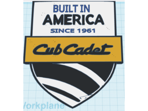 Cub Cadet-Built In America Plaque