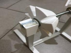 Universal adaptive filament spool (coil) holder (aluminum square tube 608 bearings M8 rod)