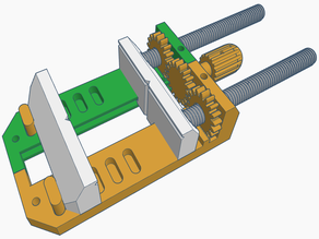 Machine Vise with Simple Quick Release Mech. V5.1 (Fully Printable)