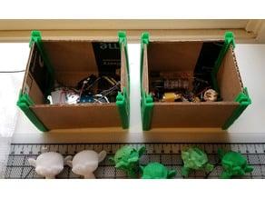 Durable adjustable organizer boxes cardboard brackets